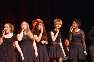 Jennifer performing with Vocal Jazz at Jazz Dessert