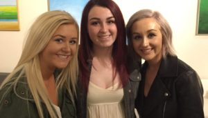 Mr. McGovern's daughter, Mo, with her sister, Shannon on the right and her friend Emily on the left.