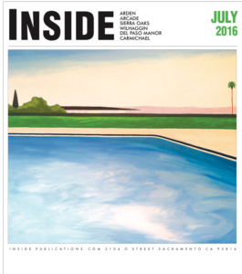 One of Mr. McGovern's pool paintings on the cover of Inside magazine