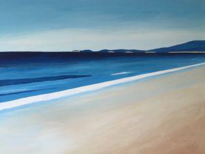 "One of Mr. McGovern's paintings:  ""California Coast #56""  acrylic on canvas"