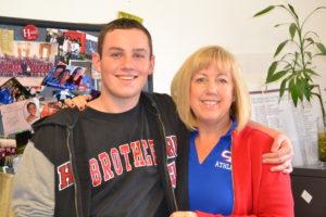 Daniel McCarthy '16 enjoys having his mom around campus.