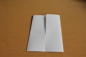 3) It should look something like this when both sides are folded in.