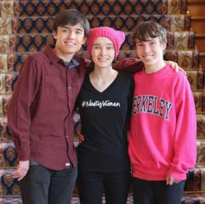 From left to right, Cal, Maile, and Jared